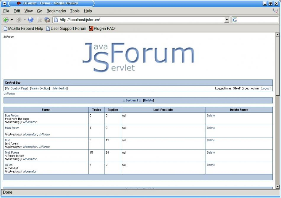 JsForum Screenshot